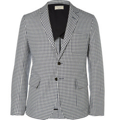 Maison Kitsuné Slim-Fit Checked Cotton Suit Jacket
