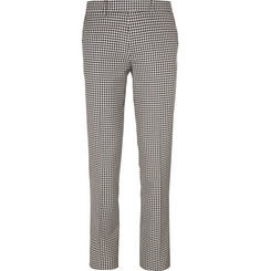 Maison Kitsuné Slim-Fit Checked Cotton Trousers