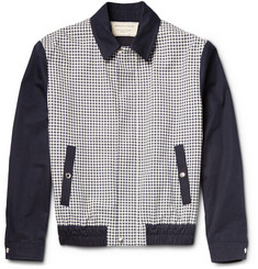 Maison Kitsuné Checked Cotton-Canvas Bomber Jacket