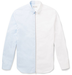 Maison Margiela Zipped Two-Tone Cotton Shirt