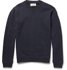 Maison Martin Margiela Nubuck Elbow Patch Loopback Cotton-Jersey Sweatshirt