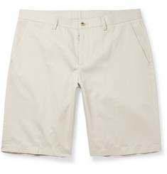 Maison Margiela Cotton and Linen-Blend Twill Short