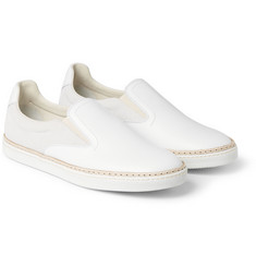 Maison Margiela Panelled Leather and Suede Sneakers