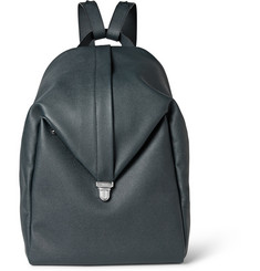 Valextra Pebbled-Leather Backpack