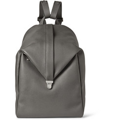 Valextra Cortina Pebbled-Leather Backpack