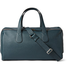 Valextra Cabina Pebbled-Leather Holdall