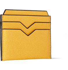 Valextra Pebbled-Leather Cardholder