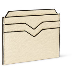Valextra Pebbled Leather Cardholder