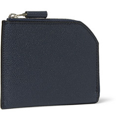 Valextra - Zip-Around Pebble-Grain Leather Wallet