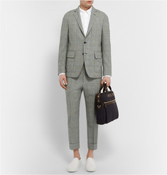 Wooster + Lardini Grey Prince of Wales Check Wool Blazer