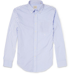 Wooster + Lardini Slim-Fit Contrast-Striped Cotton Shirt