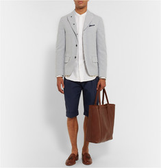 Wooster + Lardini Cotton, Flax and Wool-Blend Shorts