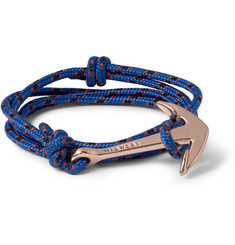 Miansai Rope and Gold-Plated Anchor Bracelet