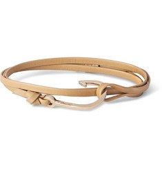 Miansai Leather And Gold-Plated Hook Bracelet