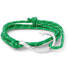 Miansai Rope and Silver-Plated Hook Bracelet