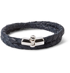 Miansai Woven Leather Wrap Bracelet
