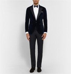 Hackett Navy Slim-Fit Velvet Tuxedo Jacket