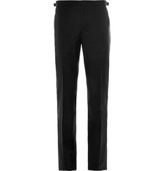 Hackett Satin-Trimmed Wool and Mohair-Blend Tuxedo Trousers