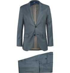 Hackett Blue Sharkskin Wool Suit