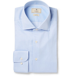 Hackett Blue Slim-Fit Striped Mayfair Cotton Shirt