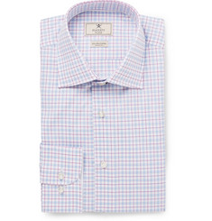 Hackett Blue Slim-Fit Mayfair Checked Cotton Shirt