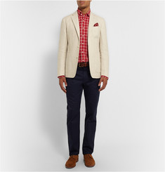 Hackett Mayfair Checked Linen Shirt