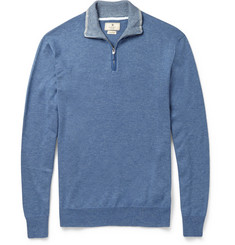 Hackett Cashmere and Cotton-Blend Sweater