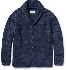 Ron Herman Mélange Wool and Cotton-Blend Shawl-Collar Cardigan