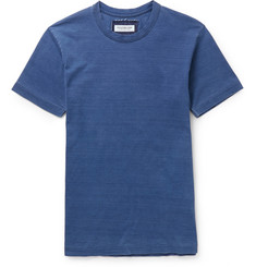 Ron Herman Indigo-Dyed Washed Cotton-Jersey T-Shirt