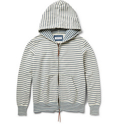 Ron Herman Indigo-Striped Cotton Hoodie