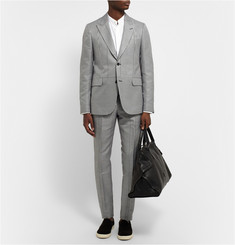 Alexander McQueen Slim-Fit Houndstooth Checked Cotton and Silk-Blend Suit Jacket