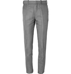 Alexander McQueen Slim-Fit Houndstooth Checked Cotton and Silk-Blend Trousers