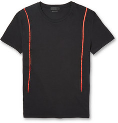 Alexander McQueen Satin-Trimmed Cotton-Jersey T-Shirt