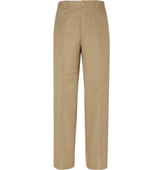 Alexander McQueen Wide-Leg Cotton Trousers