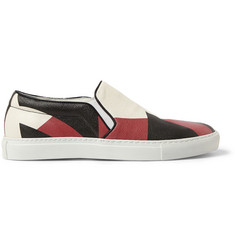 Alexander McQueen Printed Leather Slip-On Sneakers