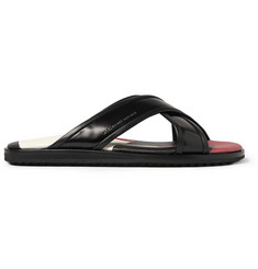 Alexander McQueen Patent-Leather Sandals