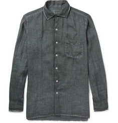 Massimo Alba Watercolour-Dyed Ramie Shirt