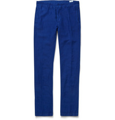 Massimo Alba Garment-Dyed Linen and Cotton-Blend Trousers