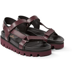 Valentino Two-Tone Leather Sandals