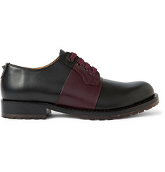 Valentino Striped Leather Derby Shoes