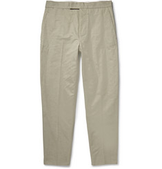 Lemaire Straight-Leg Cotton and Linen-Blend Trousers