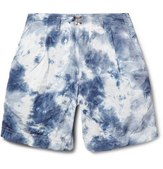 Kolor Tie-Dyed Crinkled Poplin Shorts