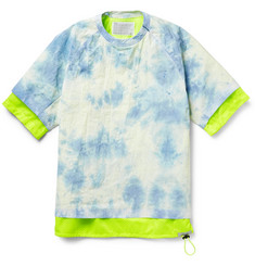 Kolor Crinkled Poplin and Mesh Shirt