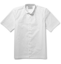 Kolor Perforated Cotton-Poplin Shirt