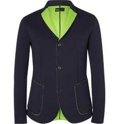 Kolor Navy Bonded Cotton-Blend Jersey Blazer