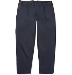 Kolor Mesh-Trimmed Cotton-Twill Trousers