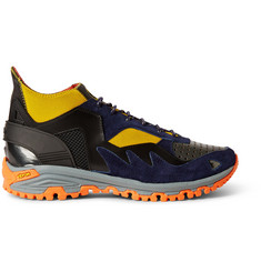 Kolor Leather, Neoprene and Mesh Sneakers