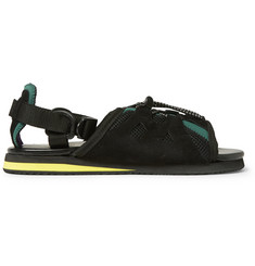Kolor Leather and Mesh Sandals