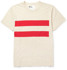 Margaret Howell MHL Striped Cotton-Blend T-Shirt