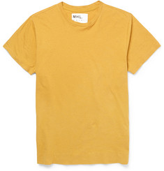 Margaret Howell MHL Cotton and Linen-Blend T-Shirt
